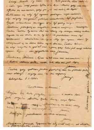 List Janusza Filli - fot. archiwum prywatne