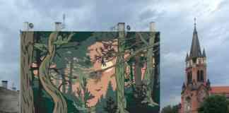 """""""Sosnowy początek"""" nowy mural w Sosnowcu - fot. UM Sosnowiec"""