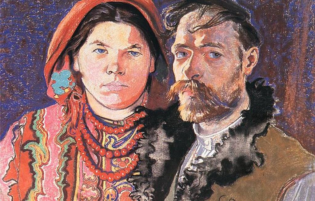 Stanisław Wyspiański z żoną - fot. Wikipedia