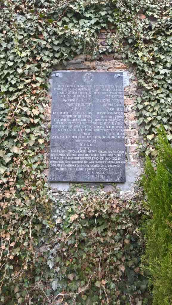 Tablica na kamienicy przy ul. Podsiadły 2017 r. - fot. Fundacja Brama Cukermana