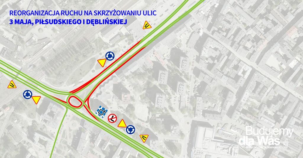 Remont 3 Maja - fot. UM Sosnowiec