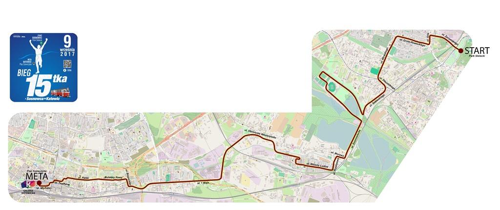 Trasa biegu 15-tki - fot. mat. pras.