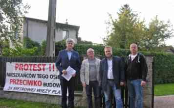 Protest mieszkańców ul. Dębowej - fot. AR