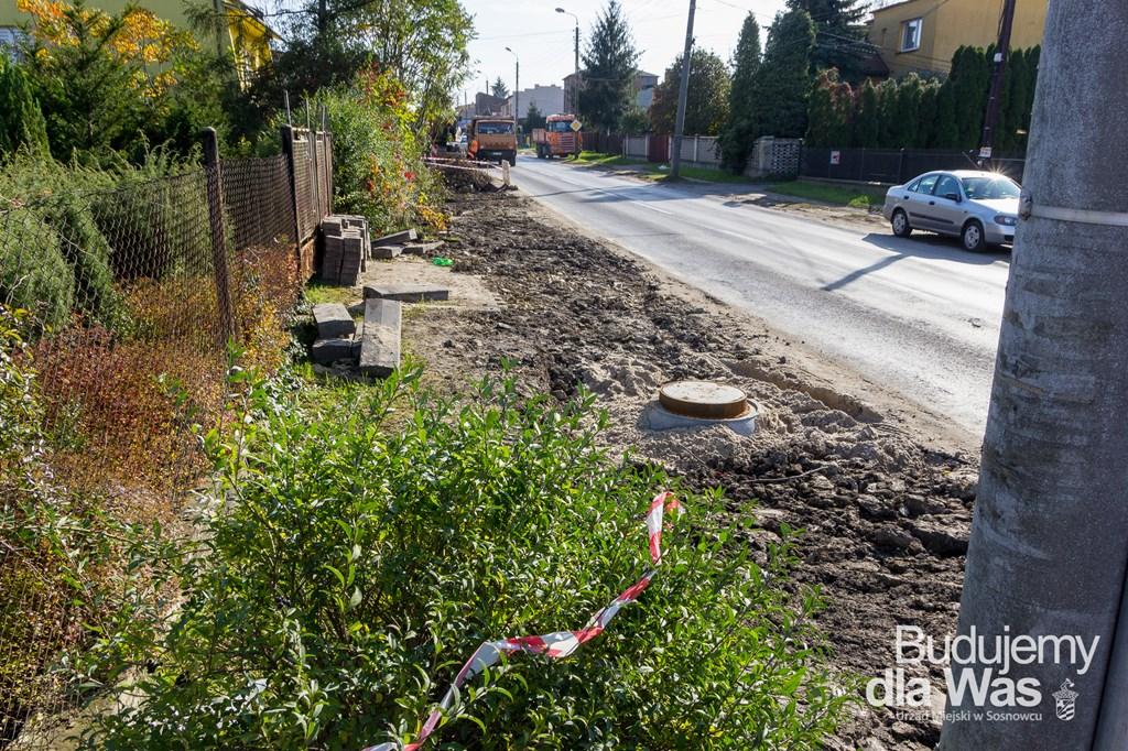 Prace kanalizacyjne w Sosnowcu - fot. UM Sosnowiec