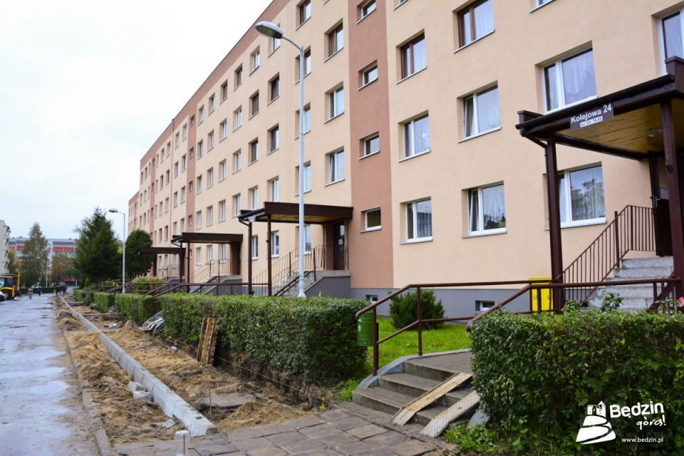 Remont u. Kolejowej - fot. UM Będzin
