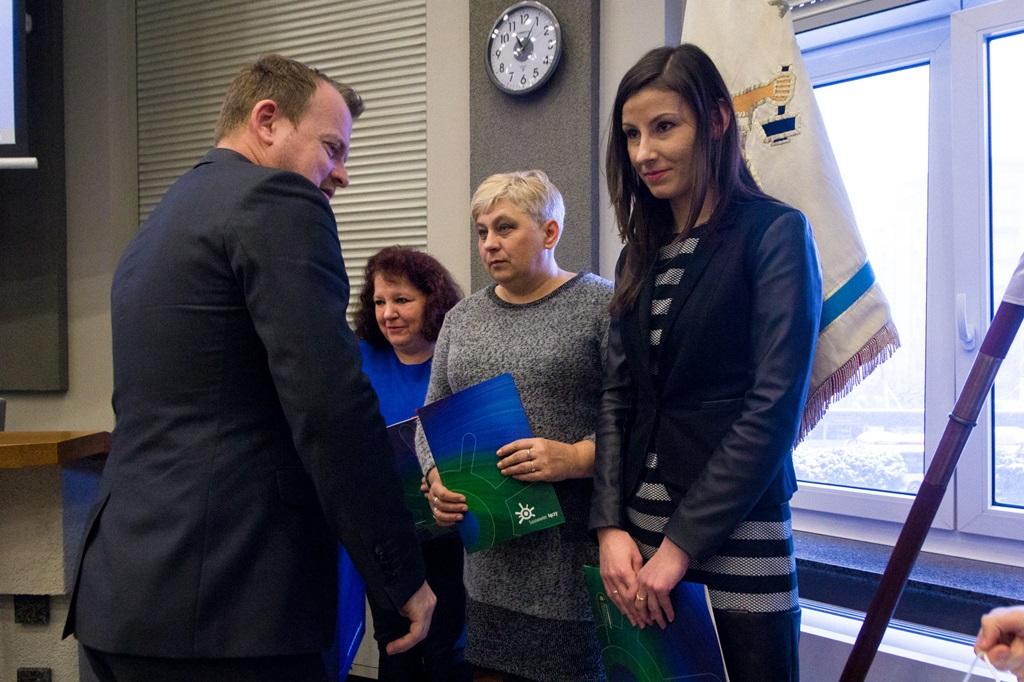 Pracownicy Urzędu Miejskiego uratowali życie mieszkance Sosnowca - fot. UM Sosnowiec