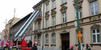 Pożar poddasza w Sosnowcu - fot. Mateusz Giemza