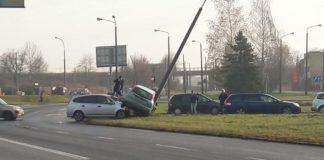 Wypadek w Czeladzi -fot. Gdzie stoją w Sosnowcu/Facebook