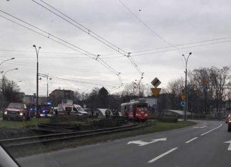 Wypadek w Sosnowcu - fot. Sosnowiec998/Facebook
