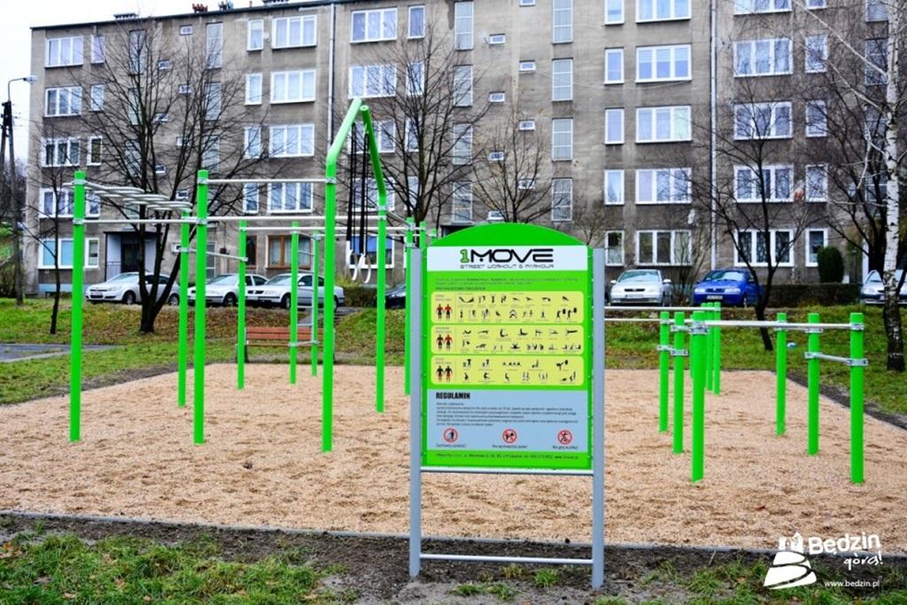 Plac do kalisteniki w Będzinie - fot. UM Będzin