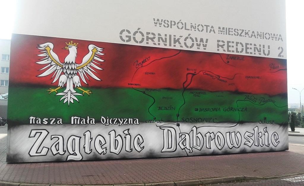 Mural w centrum Dąbrowy Górniczej - fot. AR