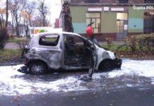 Zazdrosny mąż spalił auto żony - fot. KMP Sosnowiec