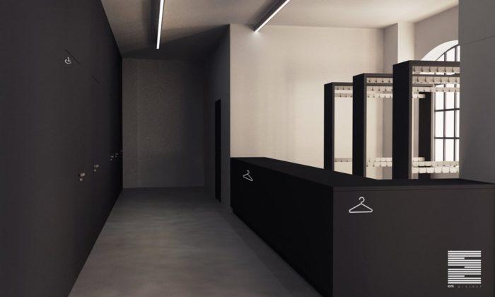 Projekt sali wielofunkcyjnej w Fabryce Pełnej Życia - fot. arch. Tomasz Moskalewicz