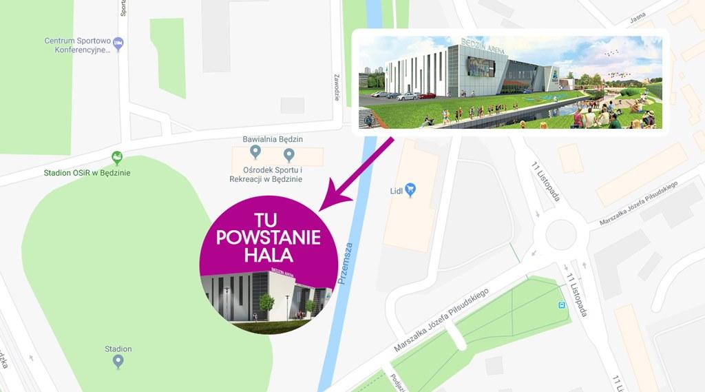 Lokalizacja Będzin Arena - fot. mat. pras.