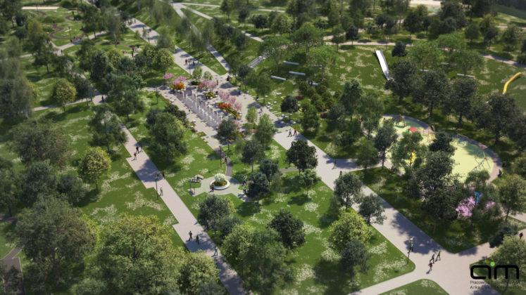 Park Hallera po rewitalizacji - fot. pracownia projektowa AiM Architekci Arkadiusz Miśkiewicz