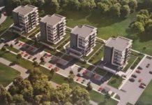 Wizualizacja nowego osiedla na Traugutta w Sosnowcu - fot. mat. pras.