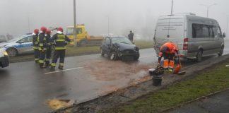 """Wypadek w Sosnowcu - fot. """"Badyl""""/Gdzie stoją w Sosnowcu"""