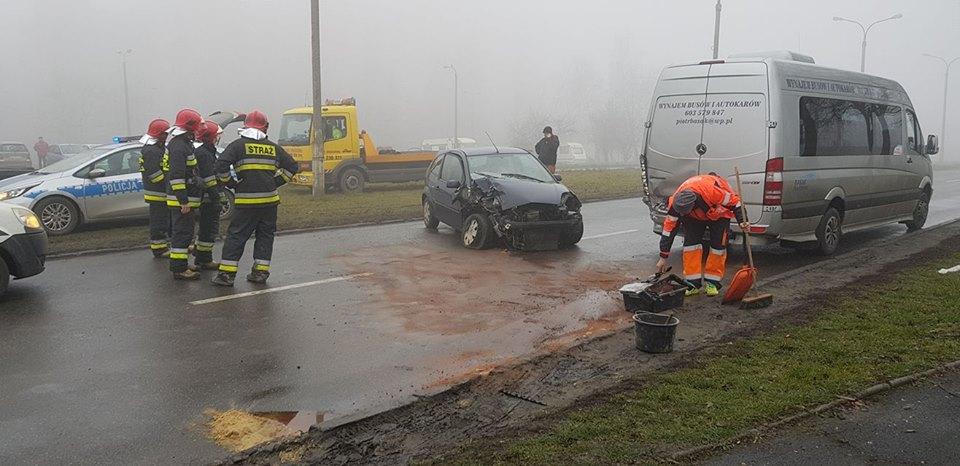 Wypadek w Sosnowcu - fot.