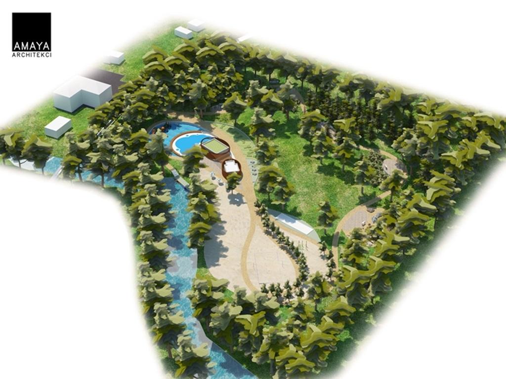 Wizualizacja obszaru przy Białej Przemszy - fot. AMAYA Architekci