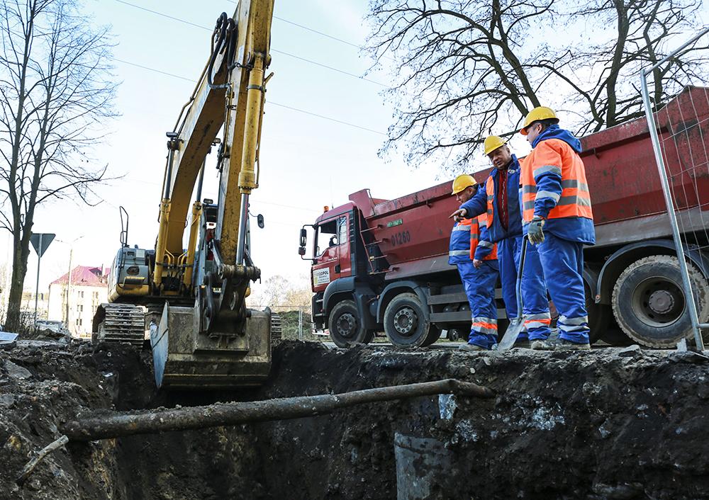 Prace przy wymianie kanalizacji w Dąbrowie Górniczej - fot. mat.pras.