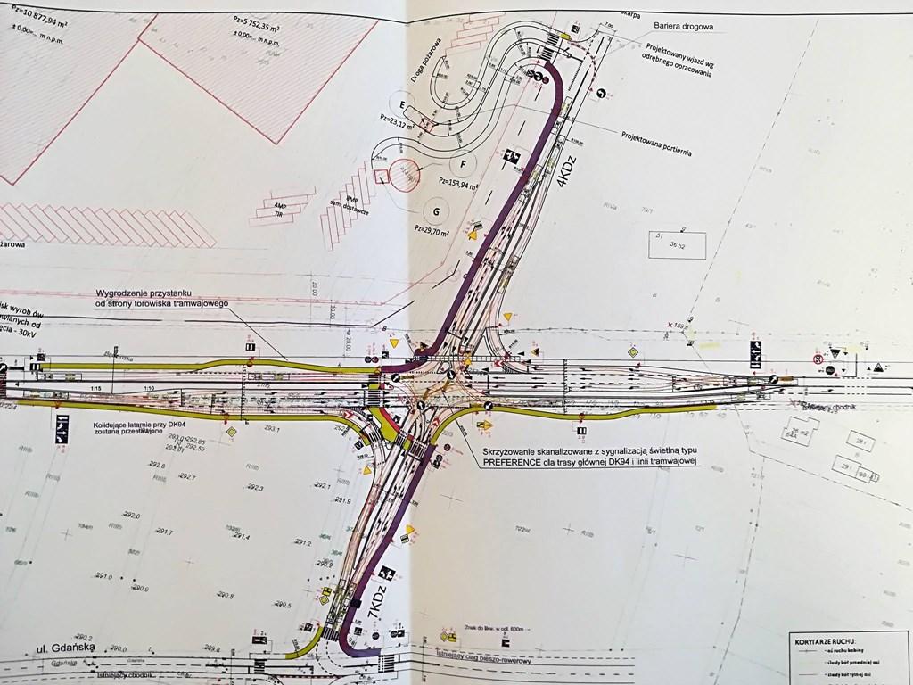 Projekt skrzyżowania przy ul. Będzińskiej w Czeladzi - fot. UM Czeladź