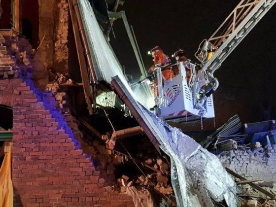 Katastrofa budowlana w Sosnowcu - fot. SGPR Nowy Sącz