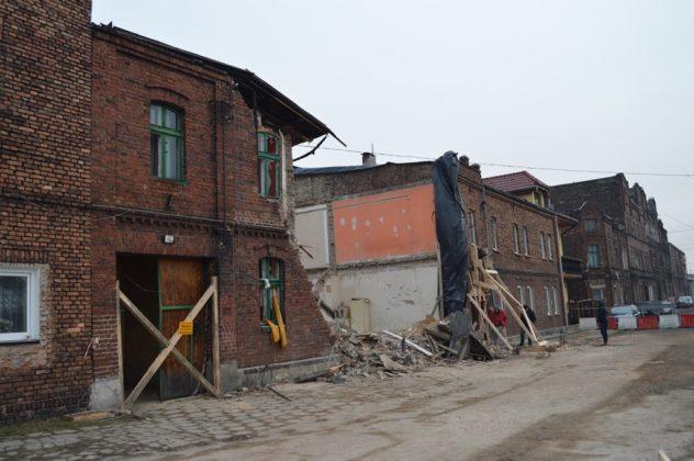 Zawalona kamienica w Sosnowcu - fot. MZ
