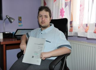 23-letni Dawid walczy o podjazd - fot. AR