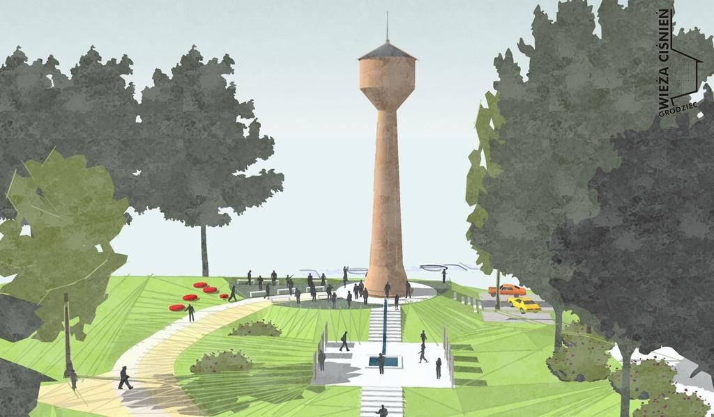 Koncepcja rewitalizacji wieży ciśnień w Grodźcu [WIZUALIZACJA] - fot. Pracownia UNREAL 12
