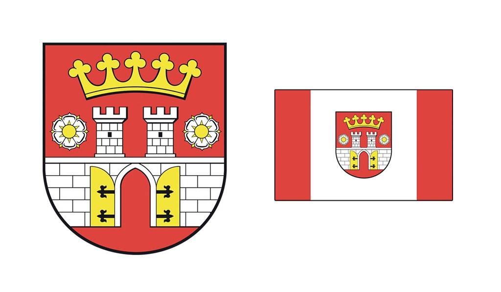 Herb i flaga Będzina - fot. Arch. TZ