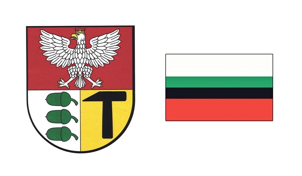 Herb i flaga Dąbrowy Górniczej - fot. Arch. TZ