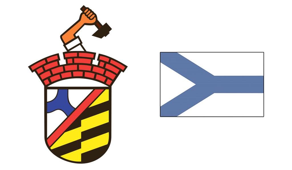 Herb i flaga Sosnowca - fot. Arch. TZ