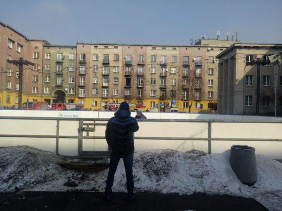 Pożar przy Alei Zwycięstwa 14 w Sosnowcu - fot. Marlena Majka