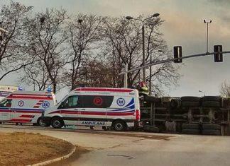 Wypadek Na skrzyżowaniu ulicy Hubala - Dobrzańskiego i 11 Listopada - fot. Sosnowiec998/Facebook