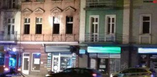 Pożar budynku przy ulicy Piłsudskiego w Sosnowcu - fot. Sosnowiec998/Facebook