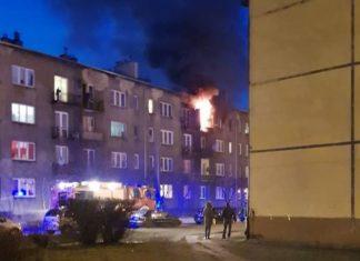 Pożar w Sosnowcu przy u. Lwowskiej - fot. Sosnowiec998/Facebook