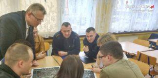"""Spotkania w ramach programu """"Bezpieczna Dąbrowa"""" - fot. Policja"""