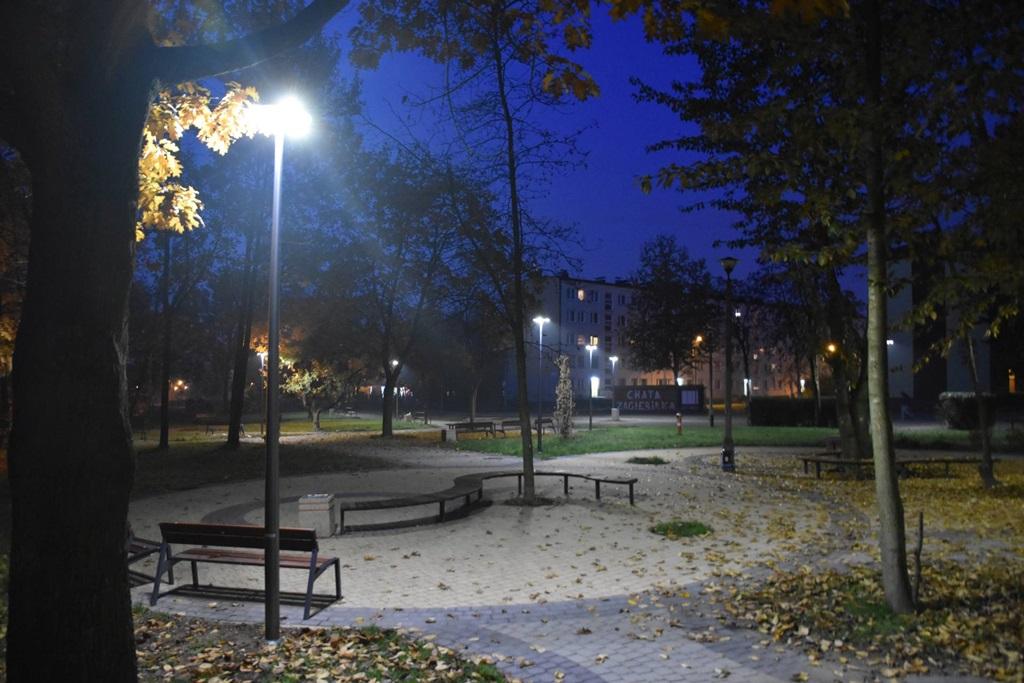 Nowe oświetlenie uliczne w Dąbrowie Górniczej - fot. Dariusz Nowak/ UM Dąbrowa Górnicza