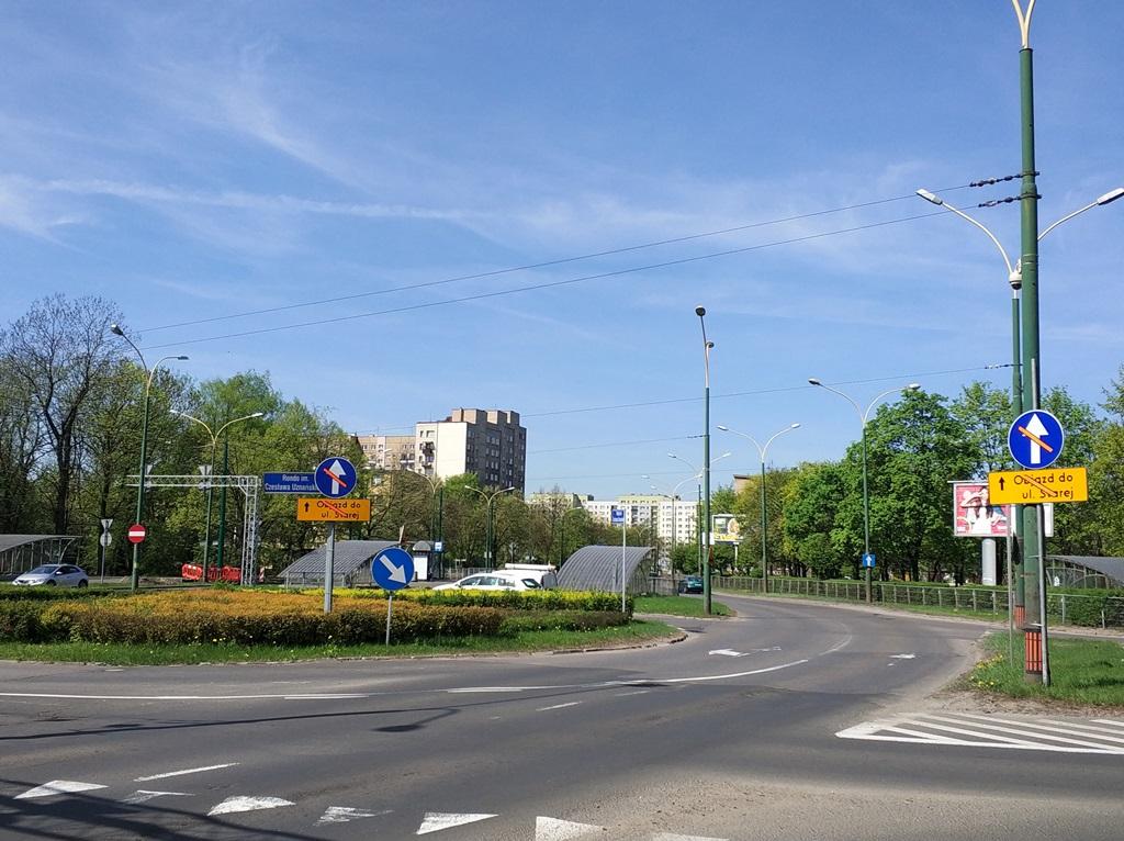 Rondo im. Czesława Uznańskiego w Sosnowcu - fot. MC