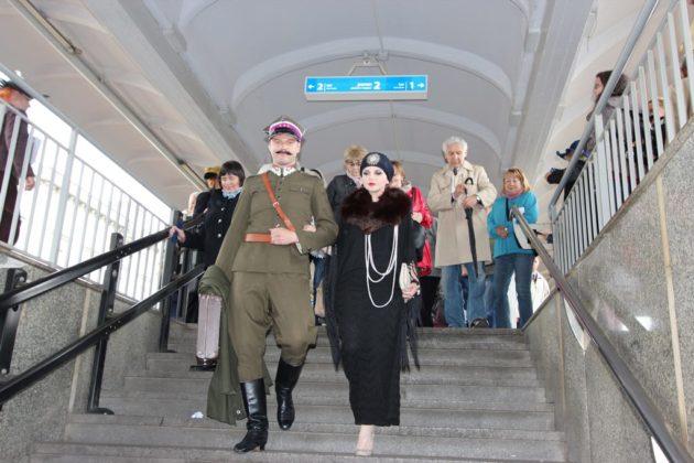 Happening na dworcu w Sosnowcu - fot. AR