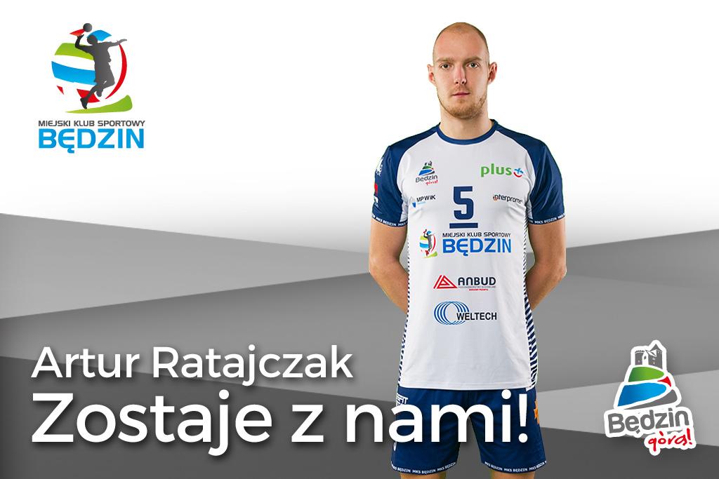Artur Ratajczak zostaje w MKS-ie Będzin – fot. MKS Będzin