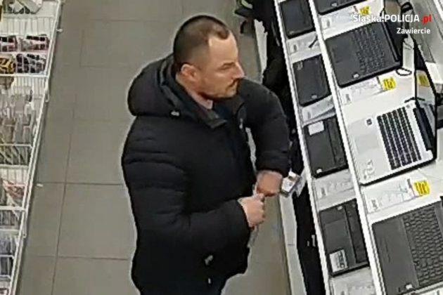 Mężczyzna podejrzany o kradzieże sklepowe - fot. Policja