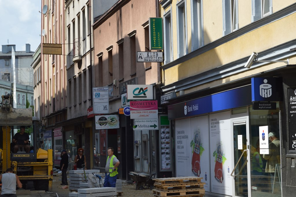 Reklamy w centrum Sosnowca – fot. MZ