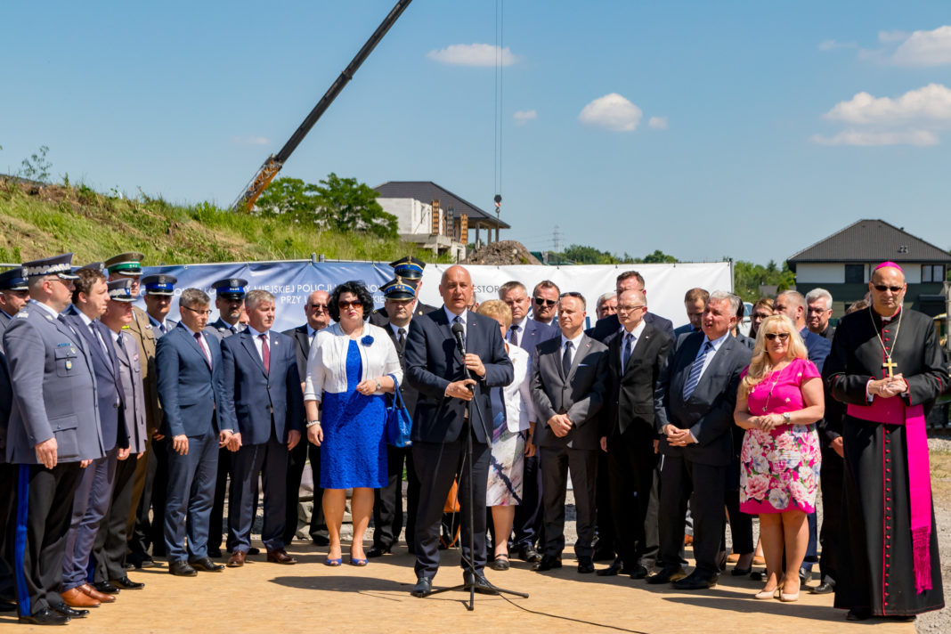 Inauguracja budowy nowej komendy policji w Sosnowcu - fot. Maciej Łydek/UM Sosnowiec