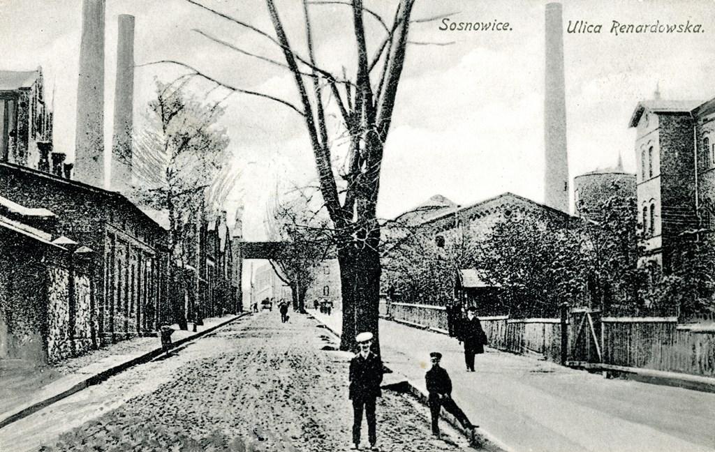 Widok na dawne zabudowania kopalni Hrabia Renard - fot. Muzeum Sosnowiec