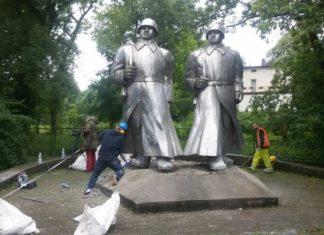 Pomnik żołnierzy Armii Czerwonej w Łośniu - fot. mat.pras.