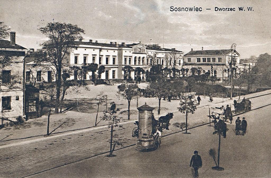Dworzec kolejowy w Sosnowcu - fot. Muzeum Sosnowiec