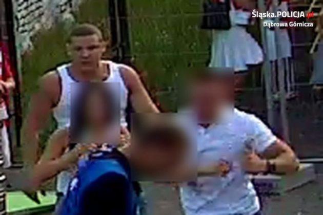 Podejrzani o wszczęcie bójki w dąbrowskiej Strefie Kibica - fot. KMP w Dąbrowie Górniczej