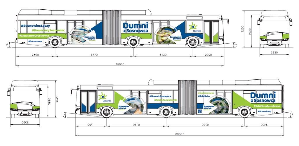 Tak wyglądać autobus PKM Sosnowiec biorący udział w kampanii promocyjnej- fot. UM Sosnowiec