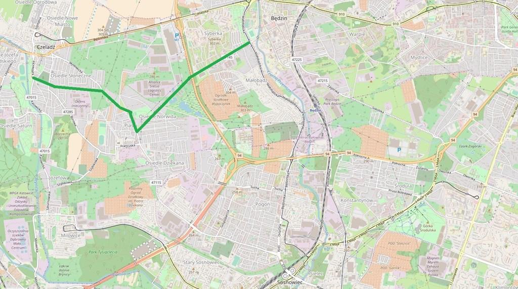 Budowa nowego skrzyżowania na ul. Będzińskiej w Czeladzi – fot. UM Czeladź